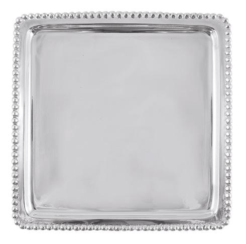 Mariposa Serving Trays and More String of Pearls Beaded Luncheon Tray $48.00