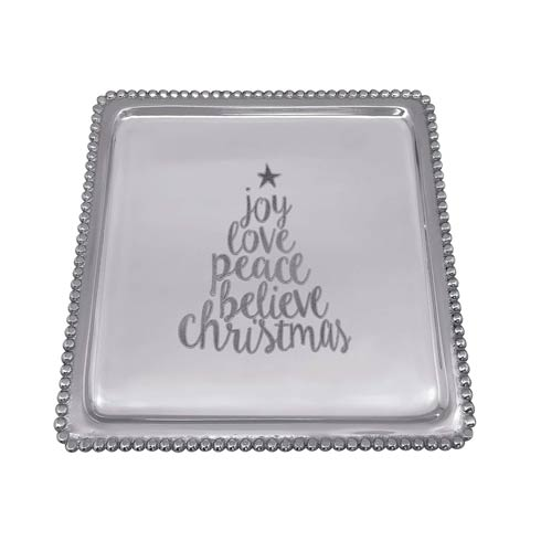 $59.00 JOY LOVE PEACE BELIEVE Beaded Luncheon Tray