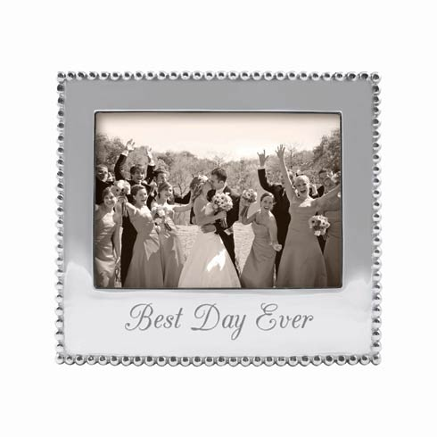 Mariposa Photo Frames Engraved Statements Best Day Ever  Beaded 5X7 $69.00