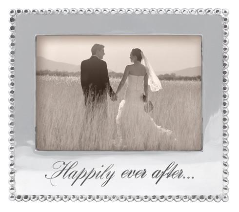 Mariposa Photo Frames Engraved Statements Happily Ever After  Beaded 5X7 $70.95