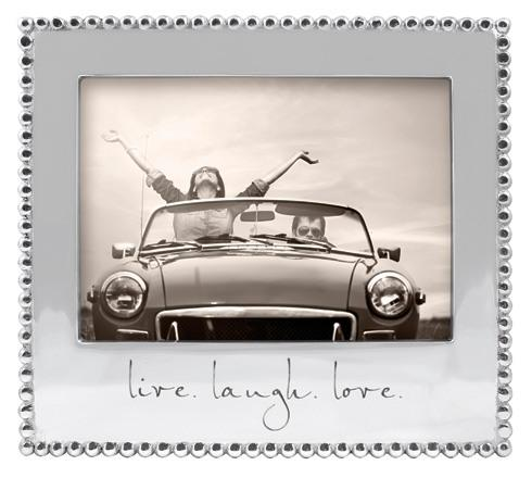 $69.00 Live. Laugh. Love Beaded 5X7