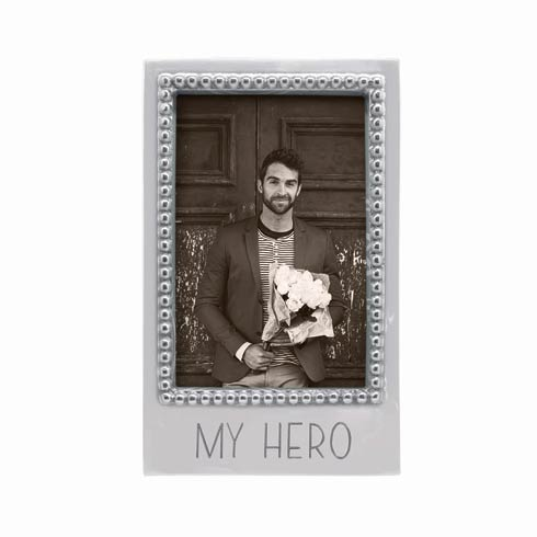 $34.30 MY HERO Beaded 4 x 6 Vertical Frame