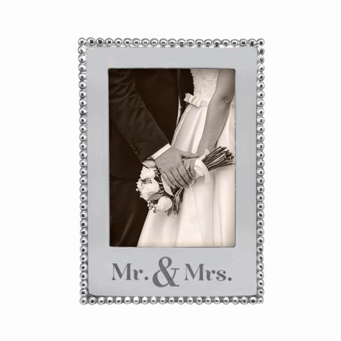 $69.00 Mr. & MRS. 5 x 7 Vertical Beaded Frame