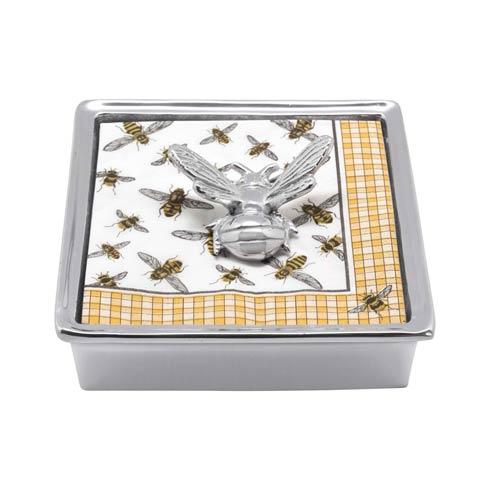 $49.00 Honeybee Signature Napkin Box
