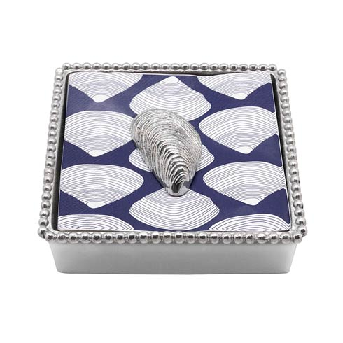 $33.60 Mussel Beaded Napkin Box