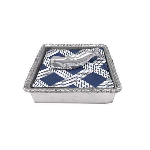 $49.00 Nantucket Whale Rope Napkin Box