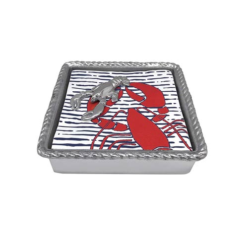 $49.00 Lobster Rope Napkin Box