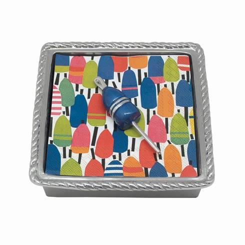 $33.60 Cobalt Buoy Rope Napkin Box