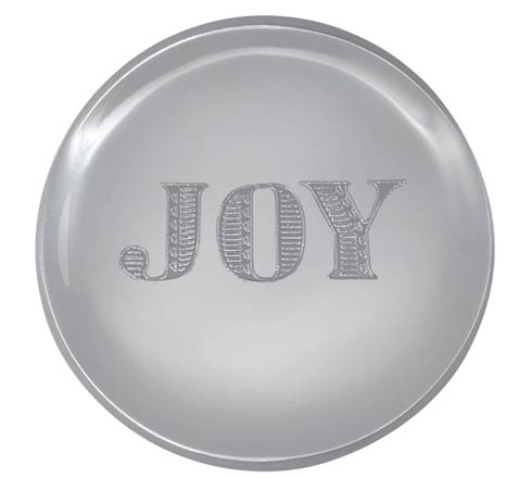 $17.00 JOY Signature Napkin Weight