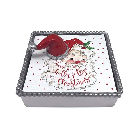 $48.00 Red Santa Hat Beaded Napkin Box