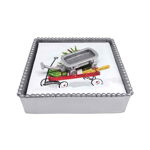 $48.00 Wagon Beaded Napkin Box