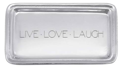 $39.00 LIVE LOVE LAUGH Signature Statement Tray