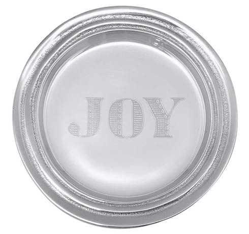 $39.00 JOY Signature Wine Plate