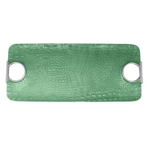 $132.30 Rectangular Green Handled Tray