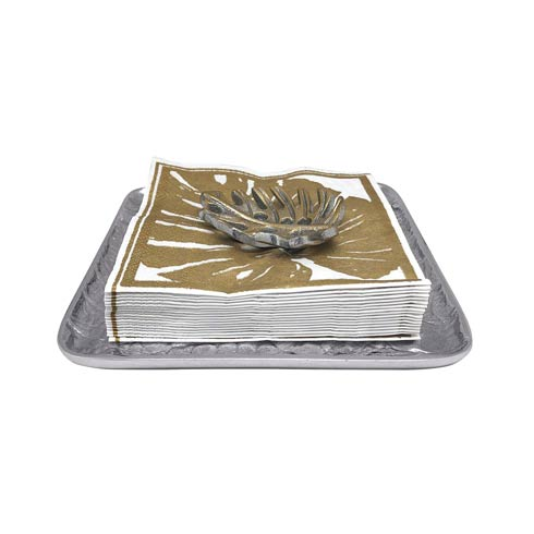 $54.00 Gold Tropical Leaf Small Square Plate