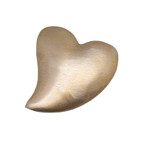 $9.80 Brushed Gold Heart Napkin Weight