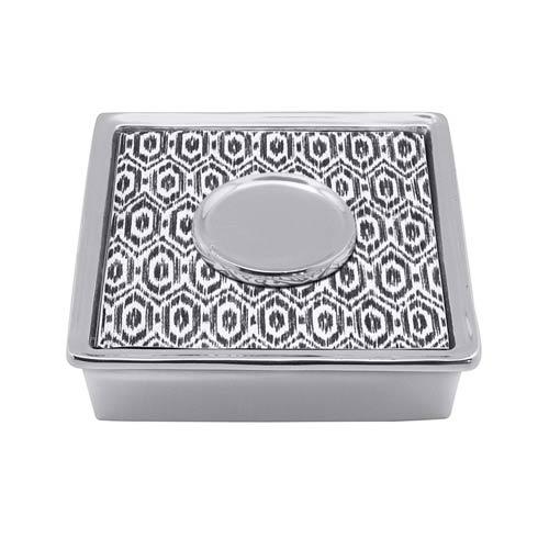 Mariposa  Signature Black Ikat Cocktail Napkin Box $34.30