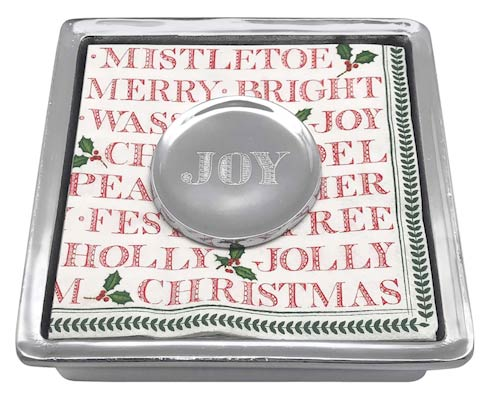 $49.00 JOY Signature Napkin Box
