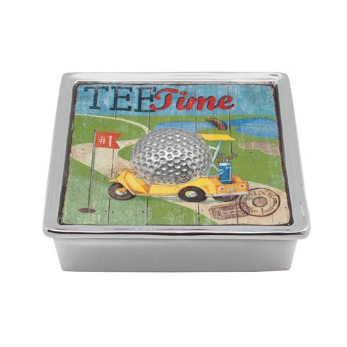 $49.00 Golf Ball Signature Napkin Box