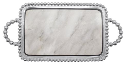 Mariposa Serving Trays and More String of Pearls Pearled Marble Charcuterie $145.00