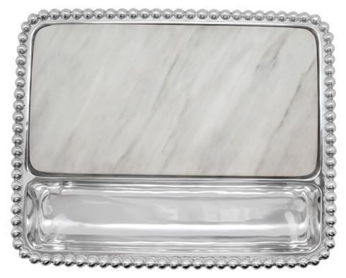 Mariposa Serving Trays and More String of Pearls Pearled Marble Cheese Board $155.00