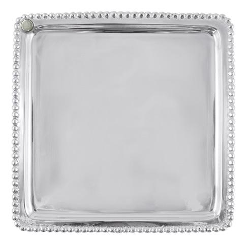 Charms Beaded Square Plate