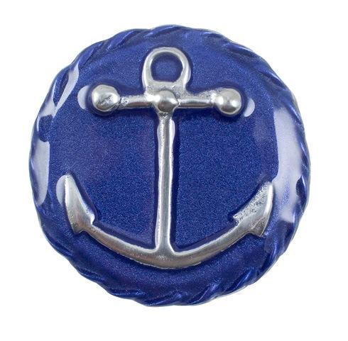 $15.75 Cobalt Anchor Emblem Charm