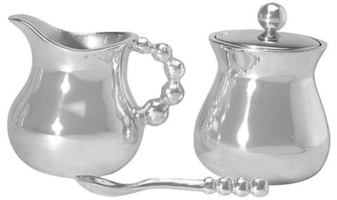$84.00 Pearled Cream & Sugar Set