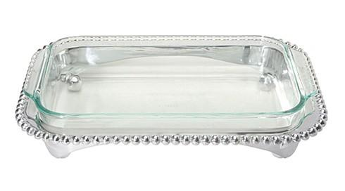 Mariposa Serving Trays and More String of Pearls Pearled Oblong Casserole Caddy $139.00