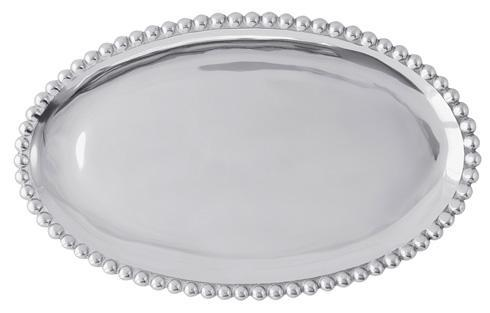 Mariposa Serving Trays and More String of Pearls Pearled Oval Platter $69.00