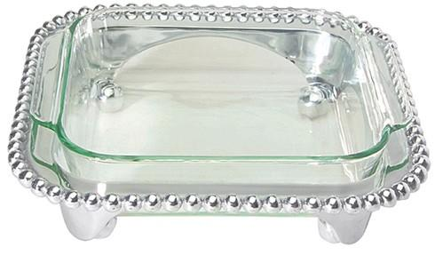 Mariposa Serving Trays and More String of Pearls Pearled Square Casserole Caddy $120.00
