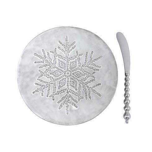 $49.00 Dotty Snowflake Ceramic Canape Plate