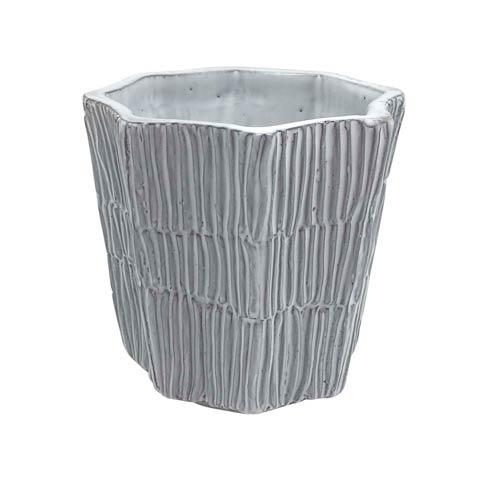 $23.80 Ceramic Salt Grass Scalloped Vase