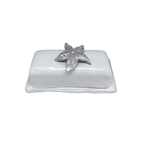Starfish Ceramic Butter Dish