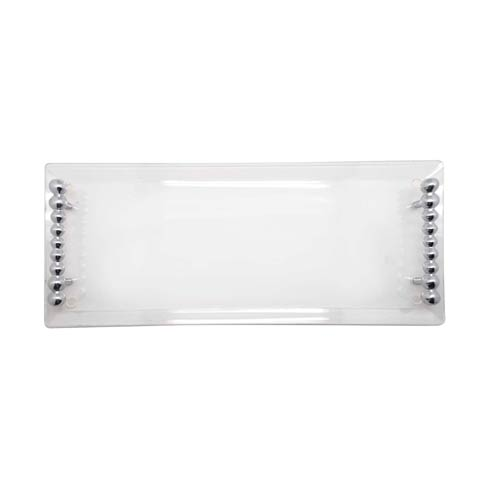 $79.00 Pearled Handle Acrylic Tray