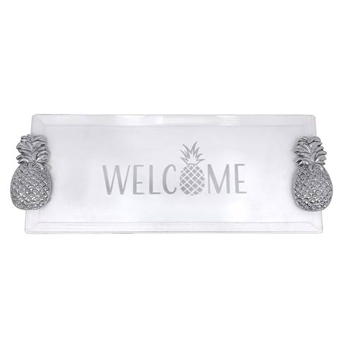 $98.00 Welcome Pineapple Handled Tray