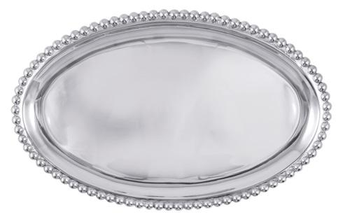 Mariposa Serving Trays and More String of Pearls Pearled Large Oval Platter $98.00
