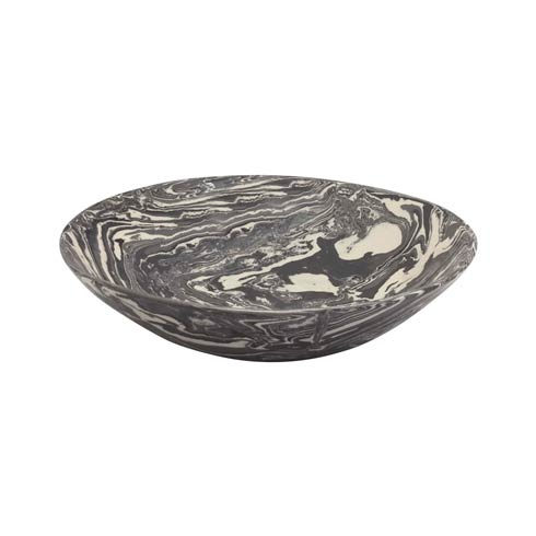 Gray Marble Ceramic Serving Bowl