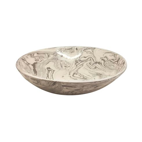 $175.00 Stone Marble Ceramic Serving Bowl