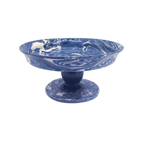 $125.00 Cobalt Marble Ceramic Small Cookie Stand