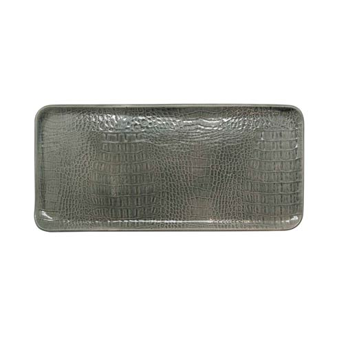 $53.40 Gray Crocodile Ceramic Rectangular Platter