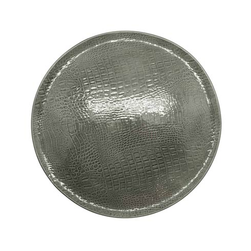 $113.40 Gray Crocodile Ceramic Round Platter