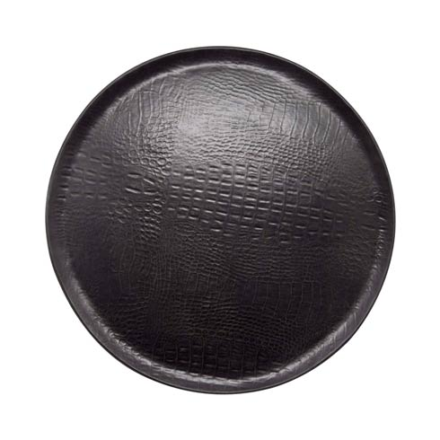 $113.40 Black Crocodile Ceramic Round Platter