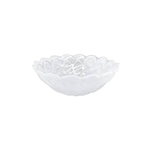 $24.00 White Small Scallop Rim Bowl