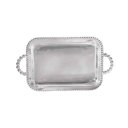 Mariposa Serving Trays and More String of Pearls Pearled Service Tray $179.00