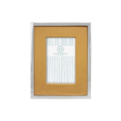 $98.00 Honeycomb Leather with Metal Border 4x6 Frame