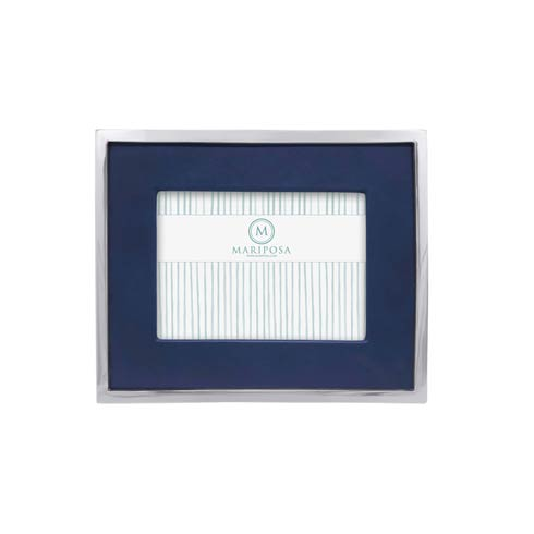 $120.00 Blue Leather with Metal Border 5x7 Frame