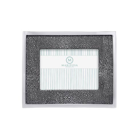 $120.00 Shagreen Leather with Metal Border 5x7 Frame