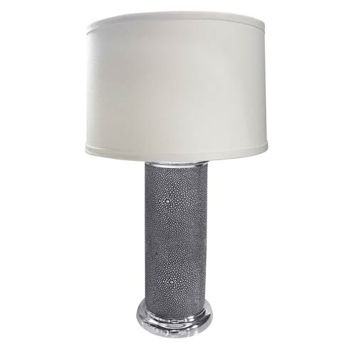 $295.00 Shagreen Leather Column Table Lamp