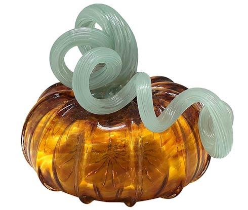 $49.00 Amber Glass Small Pumpkin
